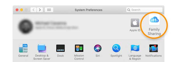 set up family sharing on Mac with macOS
