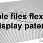 Apple files patent for flexible display