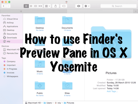 Preview Pane Yosemite Main Pic