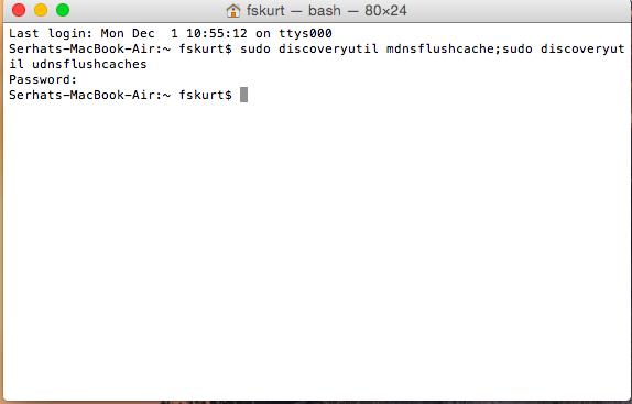 Reset DNS Mac OSX