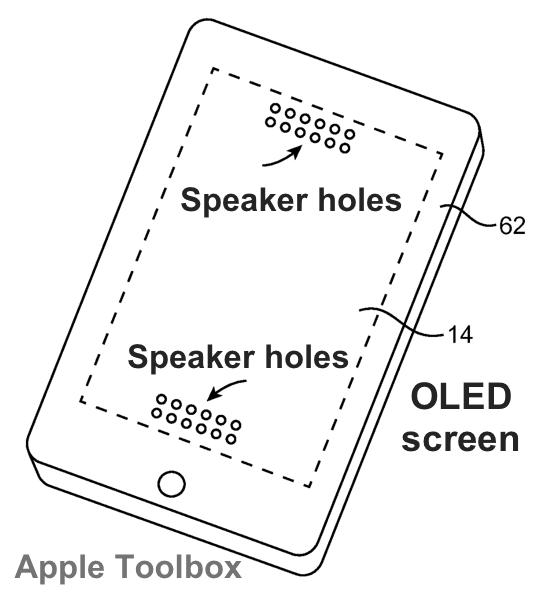Apple patent - display based speakers 1