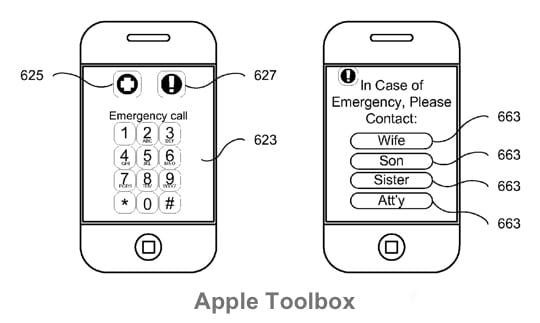 Apple Patent - Emergency Contacts 2