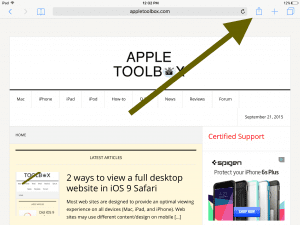 iPad how to request mobile