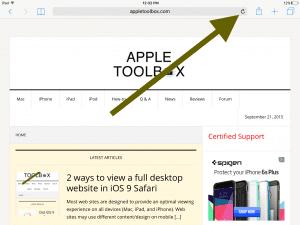 ipad screen full site