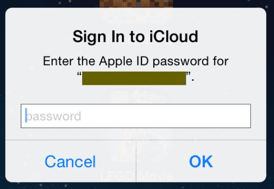 icloud login keeps popping up