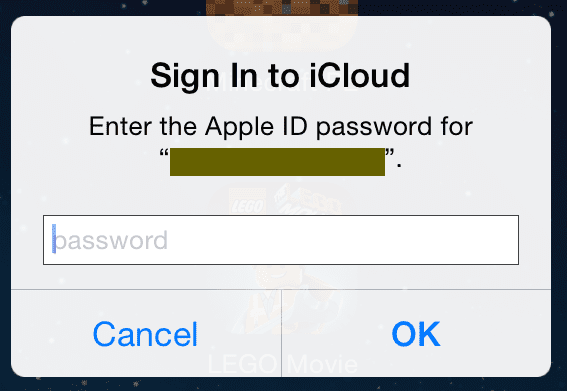 icloud repeated password pop up