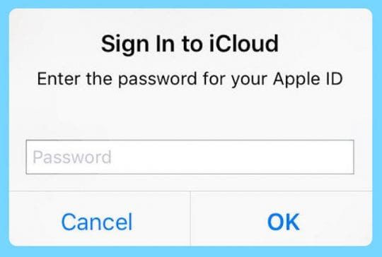 iCloud keeps asking for password