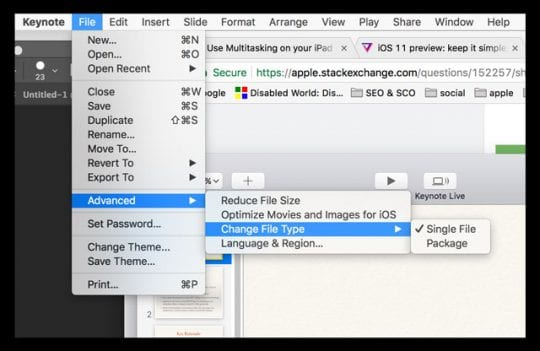 How to extract files or objects from a Keynote presentation