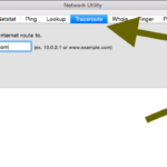 How to run a traceroute in Mac OS X