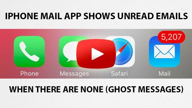 iOS Mail app shows unread emails when there are none (Ghost Messages)