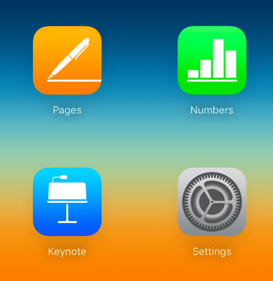 keynote select icloud