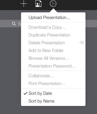 upload a keynote file