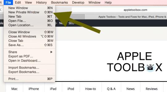 Mac Safari Private Browsing