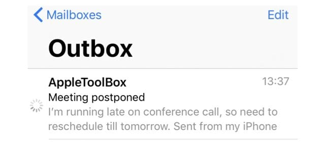 How To Remove Stuck or Unsent Email From Your Outbox on iPhone