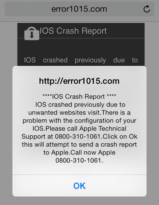 How to fix iOS Crash Message