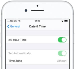 Automatic Date & Time settings in iOS
