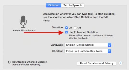 Enhanced Dictation