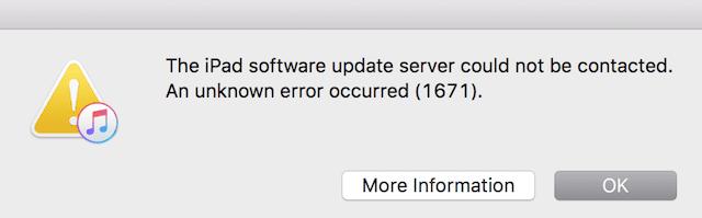 Error code 1671, Stuck while restoring iTunes, Fix