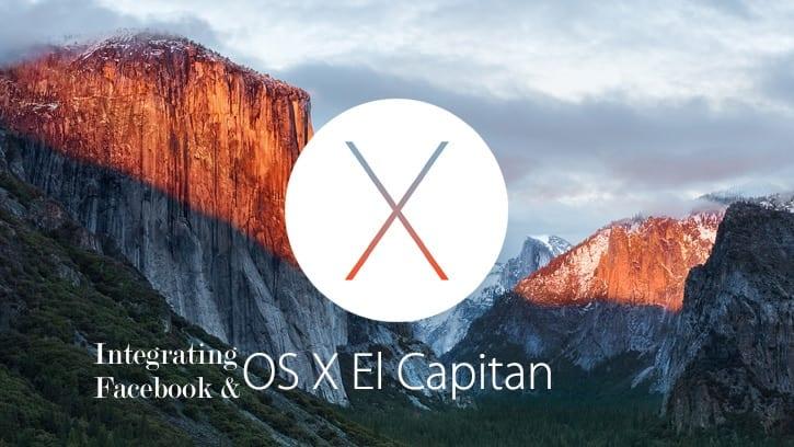 Integrate Facebook with El Capitan
