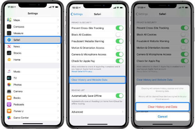 How to Clear History and Website Data from Safari on iPhone or iPad