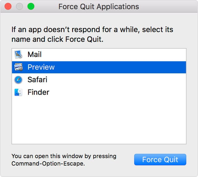 force quit Safari