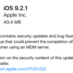 Apple Releases iOS 9.2.1 and OS X 10.11.3 Today