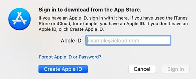new apple id using app store on Mac