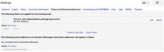 Review Blocked Senders