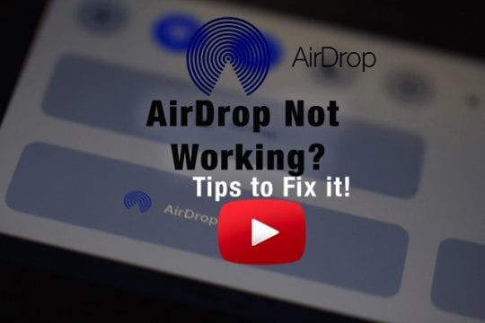 AirDrop Not Working, How to Fix