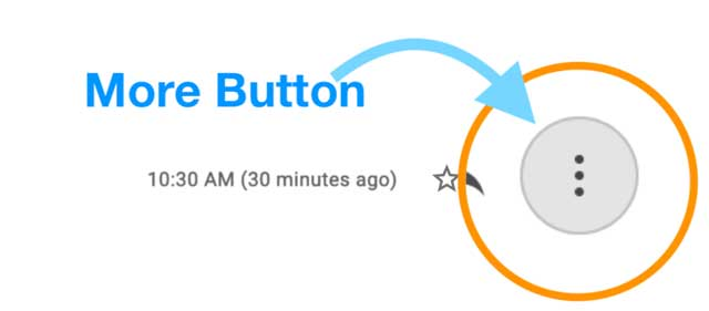 Gmail's vertical More Button three-dots