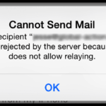 Cannot Send e-mails, Does Not Allow Relaying; Fix