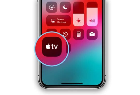 Apple TV App in Control Center iOS 12