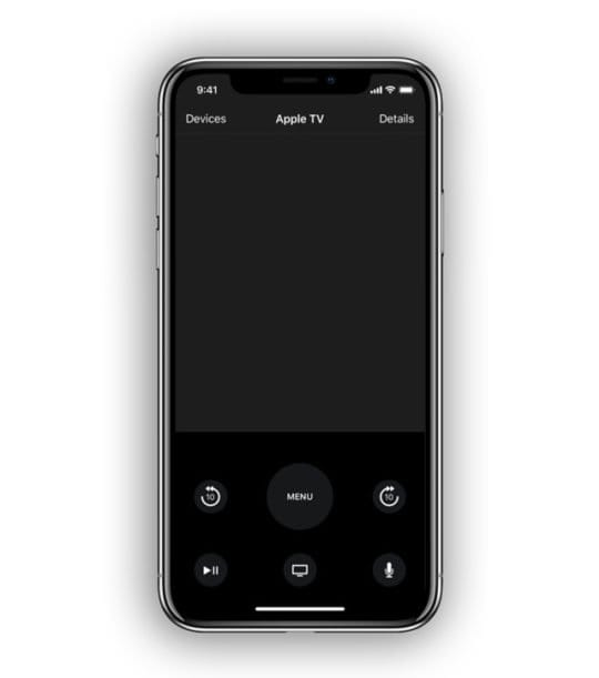 apple tv remote app on iPhone