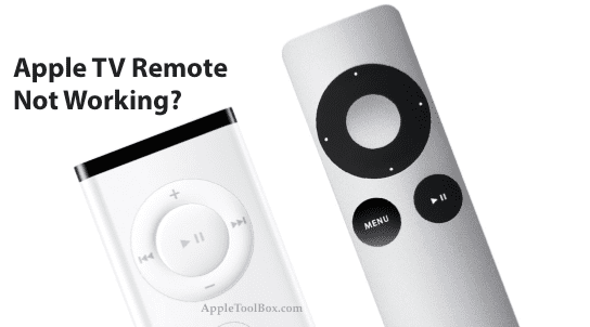How to Fix Apple TV Remote Not Working - AppleToolBox