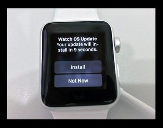 Apple Watch Updating screen