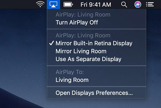 airplay options on mac
