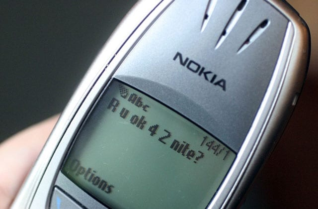 Nokia text speak message