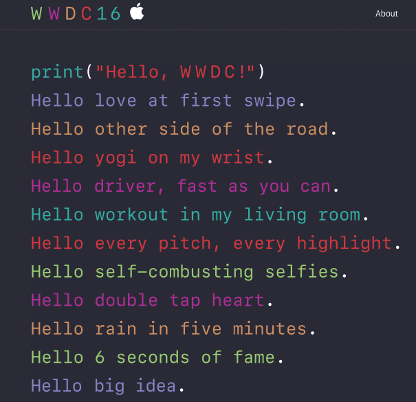 2016 WWDC Event