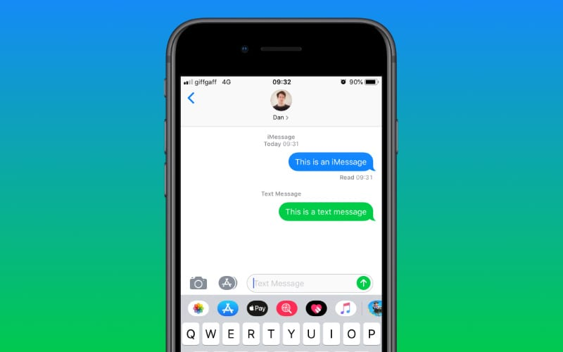What is iMessage and how is it different to normal text messages?