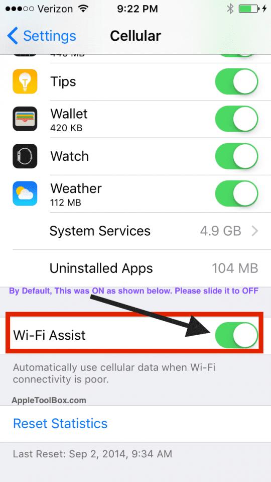 Wi_Fi_Assist_iOS 9.3.1