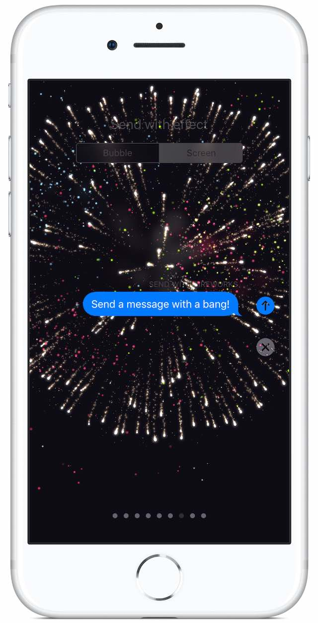 iMessage fullscreen firework effect