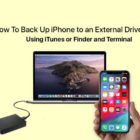 How To Back Up iPhone to an External Drive Using iTunes or Finder and Terminal