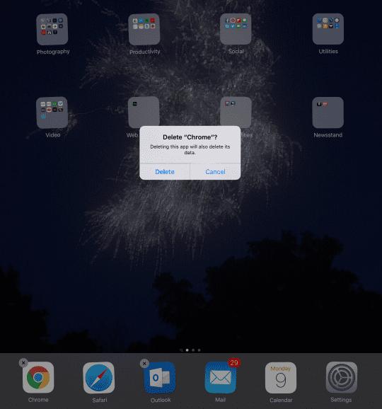 delete app iphone ipad