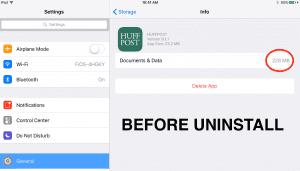 uninstall iphone ipad app