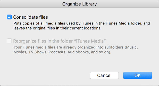 Consolidating itunes library failed selfies