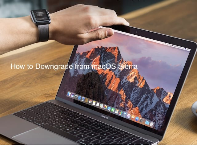How to Downgrade from macOS sierra to El Capitan