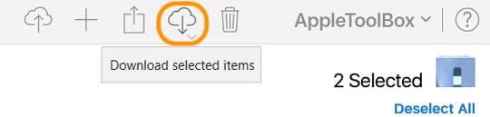 iCloud.com download button