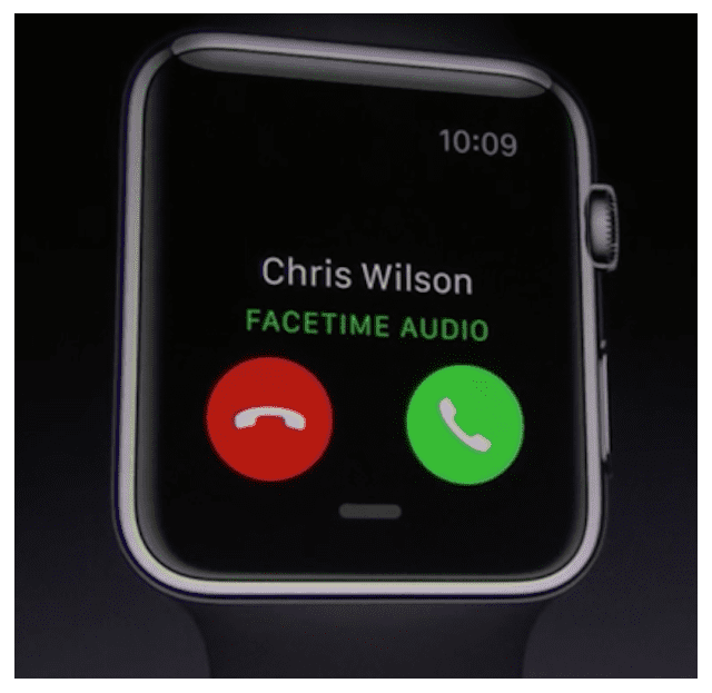 watchOS 2 is that it allows Apple Watch users to initiate FaceTime audio calls from their wrists. In the previous version the wrist-worn device owners where only able to dial regular cellular phone calls, via the signal borrowed from the paired iPhone. However, now the Watch is connected to the same Apple ID used on the iOS companion and has access to the FaceTime calling service.