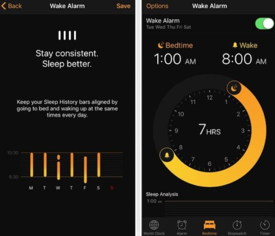 iOS 10 - Bedtime Features