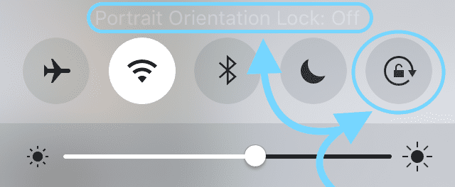 Unlock iPhone Screen Rotation, How-To